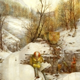 Post Industrialization Winter Painting